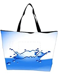 Snoogg Clear Water Splash Vector Waterproof Bag Made Of High Strength Nylon - B01I1KHHX8