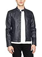 Guess Chaqueta Stretch Eco Leather (Metal Oscuro)