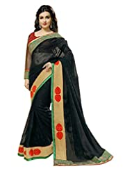 Jay Deep Semi Chiffon Saree In Black Colour For Party Wear