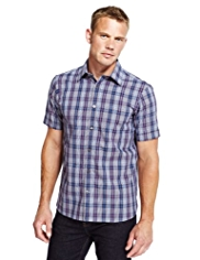 Blue Harbour Pure Cotton Graphic Checked Shirt