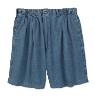 Creekwood Big & Tall Elastic-Waist Pleated Twill Shorts