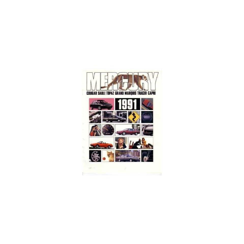1991 Mercury Sales Brochure Literature Book Piece Advertisement Options Specs