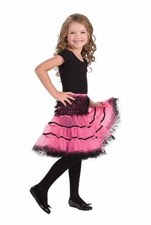 Forum Novelties Pink Black Child Size Crinoline Petticoat Tutu Skirt