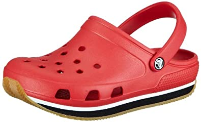 Crocs Crocs retro Clog (Toddler/Little Kid/Big Kid) kids Clog (Toddler/Little Kid/Big Kid),Red/Black,4/5 M US Toddler