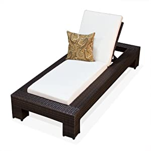 Amazon.com: BALI OUTDOOR WICKER PATIO CHAISE LOUNGE FURNITURE ...