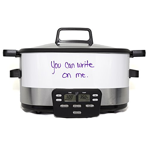 Whiteboard Crock Skin - Compatible with Cuisinart MSC-600 Models - 6-Quart - DOES NOT INCLUDE CROCK POT / SLOW COOKER (Crock Skin compare prices)