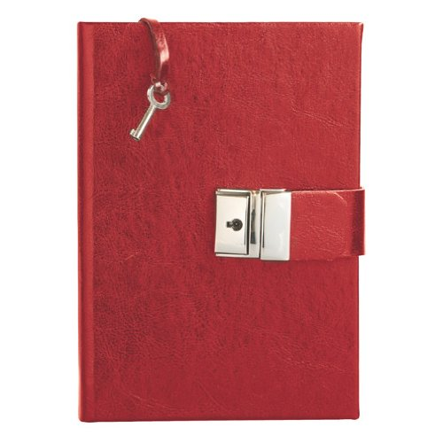 Eccolo Made in Italy Leather 5 x 7-Inch Locking Journal Diary, Red (Leather Journal Made In Italy compare prices)