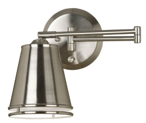 Kenroy Home 21009BS Metro Wall Swing Arm Lamp, Brushed Steel