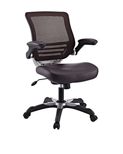 Modway Edge Vinyl Office Chair, Brown
