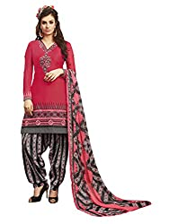 Women Icon Presents Dark Pink Embroidered Un-Stitched Dress Material WICKFRPCO15008