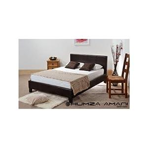 """Prado Bed Frame Size: Double (4' 6""""), Colour: Brown"""
