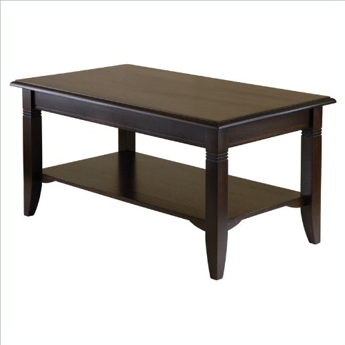 """Banded Cappuccino Wood Coffee Table (Cappuccino) (18.03""""H X 37""""W X 21.02""""D)"""