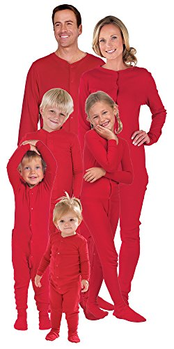 Matching Red Cotton Dropseat Christmas Pajamas for the WholeFamily 2T (Toddler One Piece Thermal Pajamas compare prices)