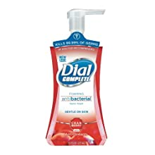 Dial Complete 03016 Cranberry Antiox Antibacterial Foaming Hand Wash, 7.5 oz, (Case of 8)