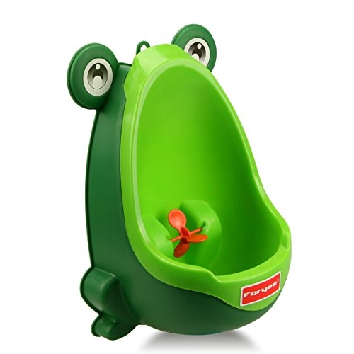 Foryee Cute Frog Potty Training Urinal for Boys with Funny Aiming Target - Blackish Green (Potty Training Toilet Insert compare prices)