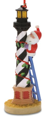 Santa Hatteras Lighthouse Island Christmas Ornament