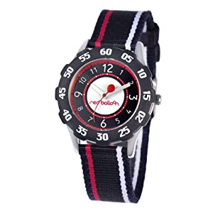 Red Balloon Red Balloon Sporty Boy Tween Stainless Steel children's quartz Watch with white Dial analogue Display and black fabric Strap W000349