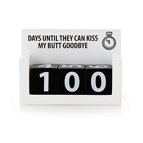 Retirement Countdown Blocks - Kiss My Butt Goodbye - 1