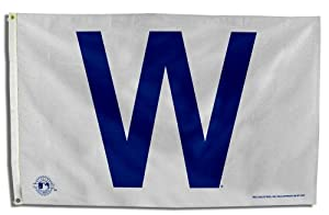 Amazon.com : MLB Chicago Cubs W 3-Foot by 5-Foot Banner Flag : Outdoor