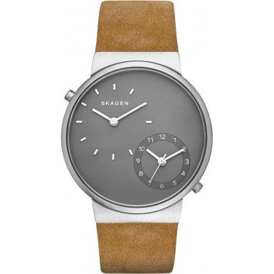 Skagen - SKW6190 - Montre Homme - Quartz - Chronographe - Bracelet cuir Marron