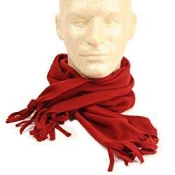 "Men's & Women's Solid Acrylic Scarf (Measures 50"" x 7"")"