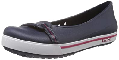 Crocs Crocband II.5, Women's Ballet Flats, Navy/Raspberry, 3 UK