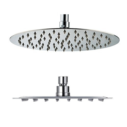 Why Should You Buy SR SUN RISE 12-inch Luxury Round Rainfall Shower Head Wall Mount High Pressure Ra...