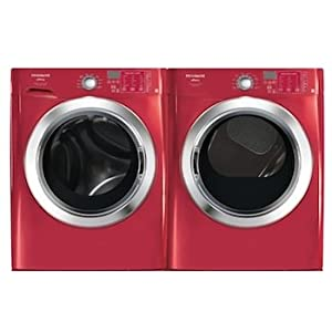 Frigidaire Affinity Red Front Load Steam Washer & Electric Steam Dryer FAFS4474LR FASE7074LR