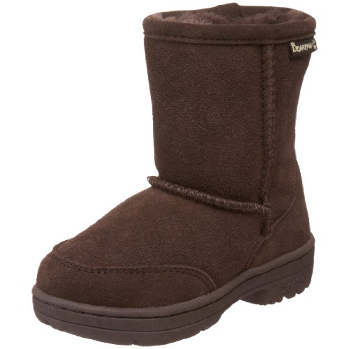"BEARPAW Meadow 6.5"" Shearling Boot (Little Kid/Big Kid),Chocolate,11 M US Little Kid"