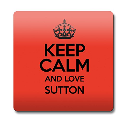 RED Keep Calm and Love Sutton Magnet 0638-Stivaletti colore alla caviglia
