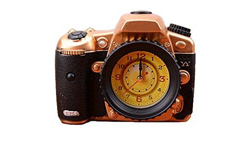Dayan Fashion Camera Alarm Clock Cool Model Clock Creative Gifts Golden