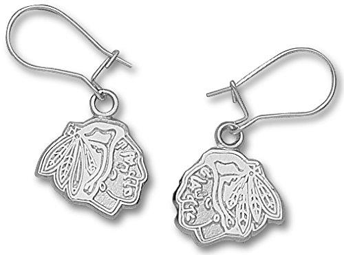 Chicago Blackhawks Sterling Silver Dangle Earrings