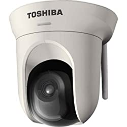 Toshiba 2 Mega Pixel IP/Network Camera. PTZ (Pan/Tilt/Zoom), 802.11N Wireless, 3.6mm lens, 1600x1200 resolution, FREE Recording Software