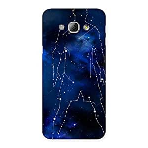 Delighted Star Man Multicolor Back Case Cover for Galaxy A8
