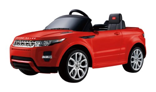 New 12v Ride on Car Range Rover Evoque Style, Toy for Kids, Boys and Girls with Music, Leather Seat, LED Wheels Lights - Red Paint (Rc Range Rover Evoque compare prices)