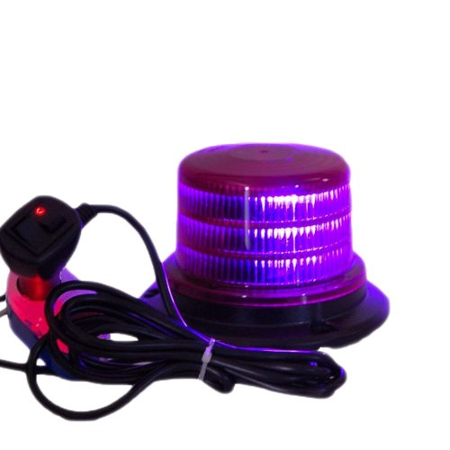 "Purple 4"" Led Beacon Strobe Rotating Spot Light"
