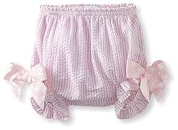 Mud Pie Baby-Girls Newborn Seersucker Bunny Bloomer, Pink, 6 Month