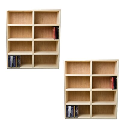2 New Tower CDS Storage Rack Holds 175+ Cd Discs - Handcrafted in the USA!