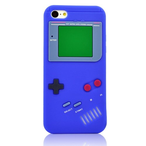 Jbg Dark Blue Iphone 5C New Styel Retro Gameboy Design Silicone Soft Gel Rubber Case Protective Cover For Apple Iphone 5C