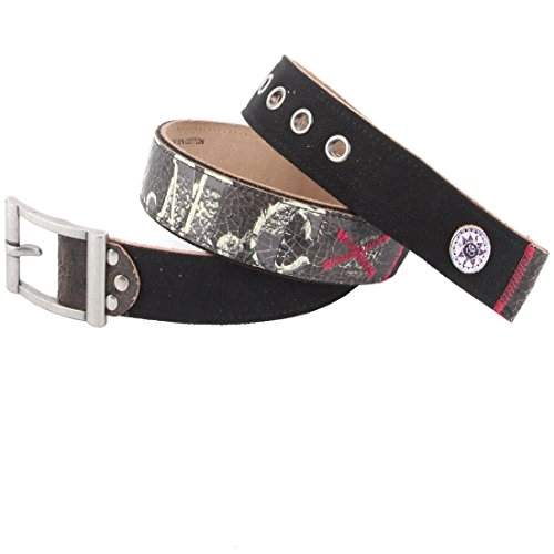 Ed Hardy EH3345 Womens Salute Canvas/Leather Belt