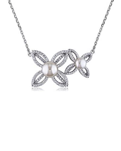 Michiko Cultured Freshwater Pearl & CZ Necklace