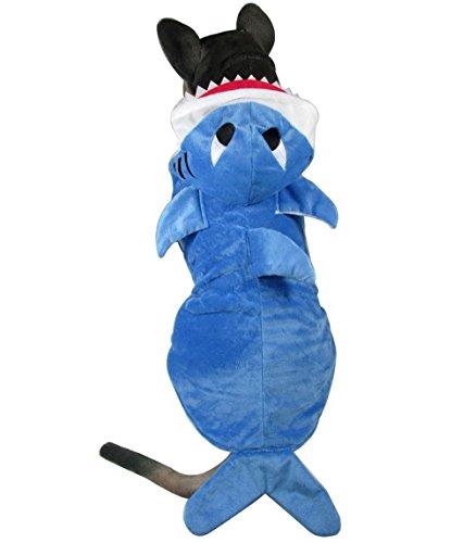 [SELMAI Shark Dog Animal Costumes Hoodie Pajamas Fleece Coat Medium Large Dog Clothes Winter Vest] (Princess Tiny Feet Costume)