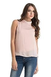 Kazo Women's Body Blouse Shirt (112798PEACHXS)