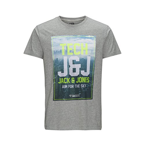 Jack And Jones Tech Mens T-Shirt Grey Size Xl (Grey Jack compare prices)