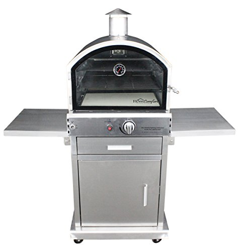HomComfort HCP16SS Stainless Steel Gas Pizza Oven (Small Wood Oven compare prices)
