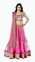 Bhavya Enterprise Mandira Pink Net Lehenga
