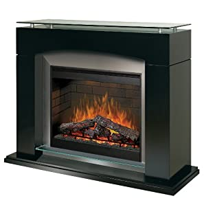 Dimplex Symphony Ovation Laguna Free Standing Electric Fireplace In Black Gas Logs