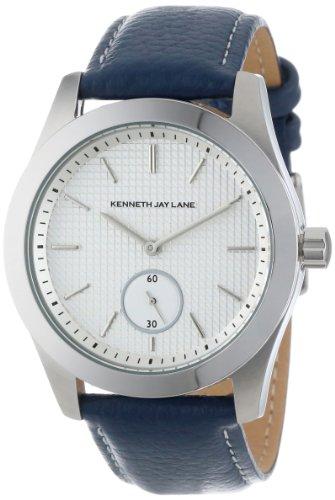 Kenneth Jay Lane Women'S Kjlane-2312S-03C  White Textured Dial Blue Leather Watch