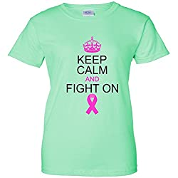 Keep Calm And Fight On Support Women's T-Shirt