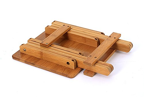 Multifunctional Foldable Bamboo Footstool Shower Stool Leisure ...
